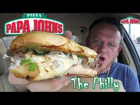 Papa John's ☆PHILLY STEAK MELT☆ Sandwich Food Review!!!