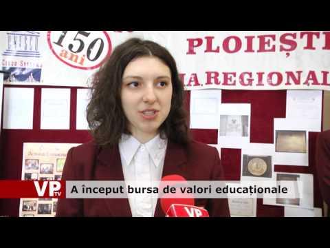 A început bursa de valori educaționale