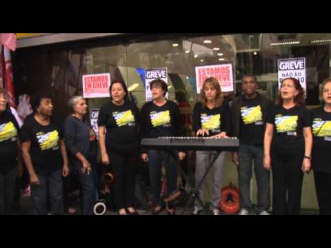 Bancários de Santos e região fazem greve forte