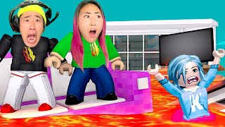 Playing Floor Is Lava With Stove!! (Roblox Edition)