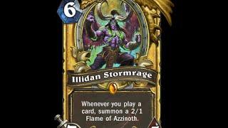 История карт Hearthstone: Illidan Stormrage (Иллидан ярость бури)