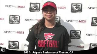 2021 Jalyssa Ledesma Third Base & Middle Infield Softball Skills Video - Batbusters 18 GOLD - Gomes