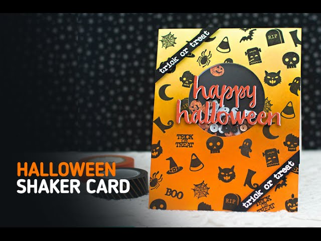 Spooky Ombre & Stamp Card