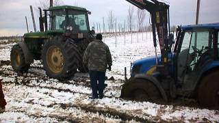 New Holland T5050 stuck in the mud
