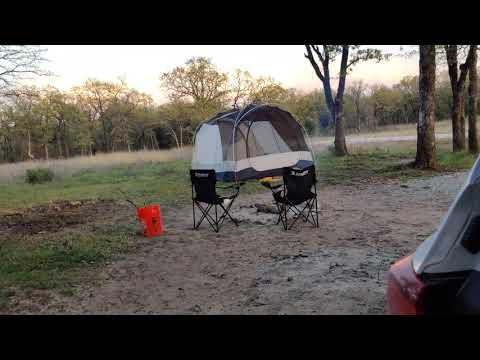 kid roasting his first camp hot dog