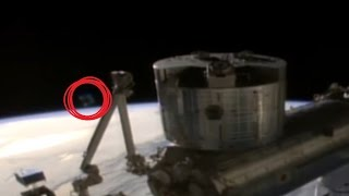 Giant UFO Appears On ISS Live Cam! 4/18/16 Feed cut!