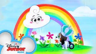 Rainy Rainy Don't Go | Music Video | Puppy Dog Pals | @Disney Junior