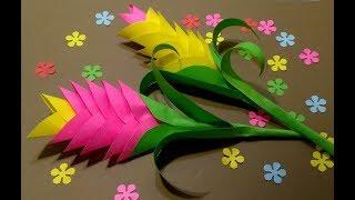 Подарки Для Мамы Бабушки Учителю Своими Руками💐Как Сделать Из Бумаги Цветы ко Дню Матери,на 8 марта