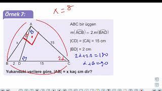 Eğitim Vadisi TYT Geometri 9.Föy İkizkenar Üçgen Konu Anlatım Videoları