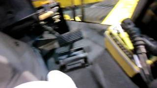 Inside the cab of a John Deere High Speed Dozer