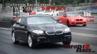 BMW M3 VS BMW F10 550i @ SlipStream Racing event