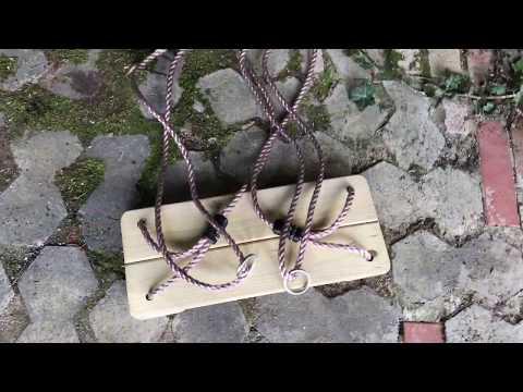Schaukel aufhängen Kinderschaukel aufbauen Brettschaukel montieren und einstellen Anleitung