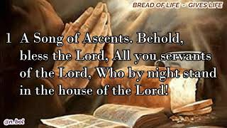 NKJV Audio Bible with Text – Psalm 134 (BREAD OF LIFE)
