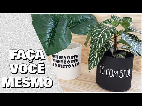DIY: CACHEPOT PARA PLANTAS, MUITO FÁCIL DE FAZER| Viviane Magalhães