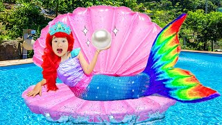 Kostum Gaun Boram Mermaid Dan Balon Sihir