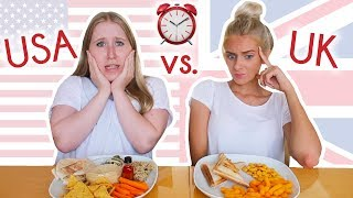 SWAPPING DIETS with an AMERICAN STUDENT for 24 HOURS! ⏰ UK vs. USA