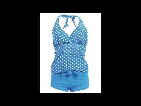 Marina West Womens Halter Tankini Shorts Swimsuit Set Piece XX Large Blue White Polka Dot