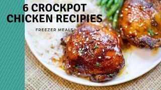 6 CROCKPOT CHICKEN FREEZER MEALS |Somers In Alaska Vlogs
