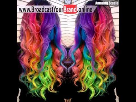 Curly Regenbogen Frisur