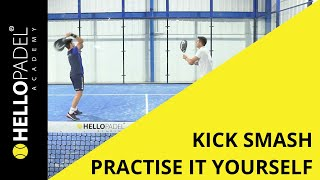 Kick smash i padel