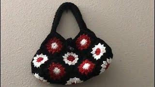 Crochet Handbag In Tamil | Handbag Using Granny Squares | Sara's Innovations