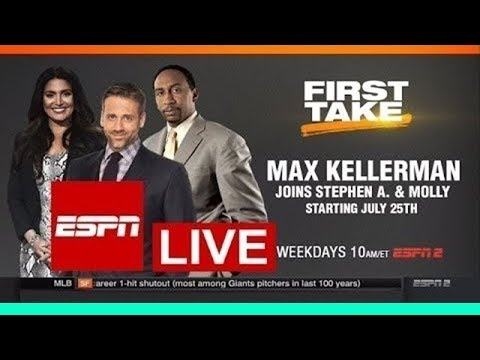 First Take ESPN Live Mar 20 2018 - 03/20/18 Max Kellerman, Molly Qerim and Stephen A. Smith