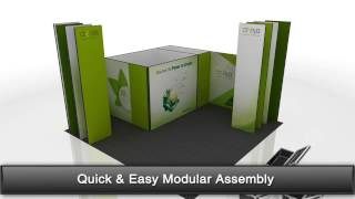 3 In 1 Exhibition Stand Design Ideas Using Creeya™ Custom Modular Exhibition Stand In Dubai
