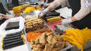 Amazingly loved in Korea $ 1.7 Kimchi Kimbab / Korean street food / K-FOOD