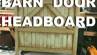 🛏️ Build A Barn Door Headboard