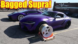 My WHITE Supra wheels and AccuAir Install!!