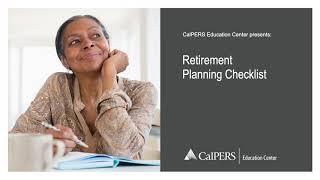 CalPERS Retirement Planning Checklist