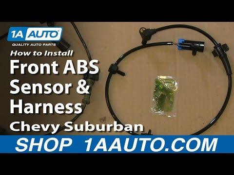 How to Replace Front ABS Sensor with Harness 00-07 Chevy Suburban