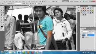 preview picture of video 'How to create color splash effect in Photoshop CS5 - tutorial'