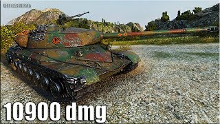 ПРАВИЛЬНАЯ ИГРА на тт WZ-111 model 5A 🌟 10900 dmg 🌟 World of Tanks как играют статисты wot