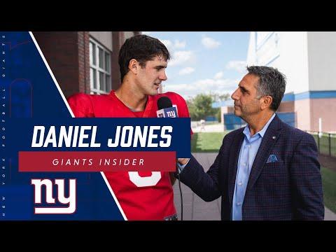 Daniel Jones First Interview as Giants Starting QB