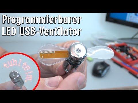 USB Ventilator LED - programmierbar - [4K Video]