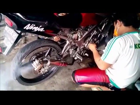 Video Tehnik Setting Motor Kawasaki Ninja Drag Race | Modifikasi Motor Ninja