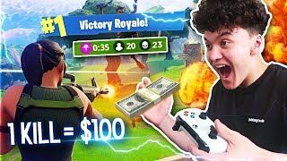I Gave My Little Brother $100 For Every Kill On Fortnite
