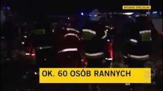 Столкновение поездов в Польше