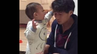 子供にいい子いい子してもらうパパ子育て育児癒し動画
