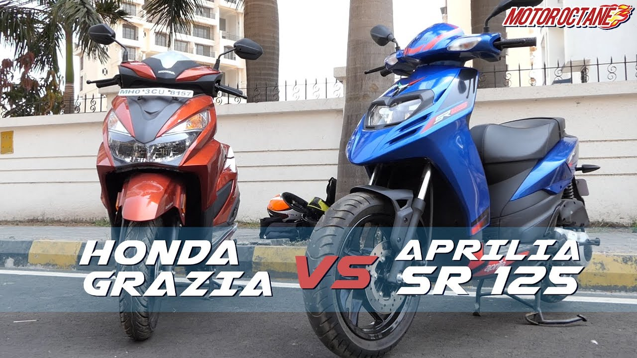 Motoroctane Youtube Video - Honda Grazia vs Aprilia SR 125 Comparison ?????? | MotorOctane