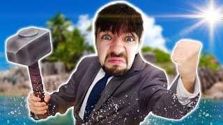 MAN GOES CRAZY ALONE AT SEA | Raft #1