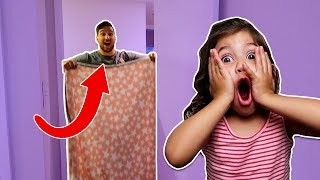 MAGIC BLANKET DISAPPEARING TRICK ON TODDLER! (best reaction ever!)