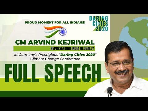 Arvind Kejriwal speaks about Delhi Model at Daring Cities 2020