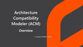 Architecture Compatibility Modeler overview