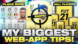 MY BIGGEST FIFA 21 WEB APP TIPS! FIFA 21 Ultimate Team