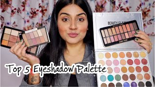 TOP 5 EYESHADOW PALETTE IN INDIA | Affordable Eyeshadow Palatte Under ₹1000 | Best Eyeshadow Palette