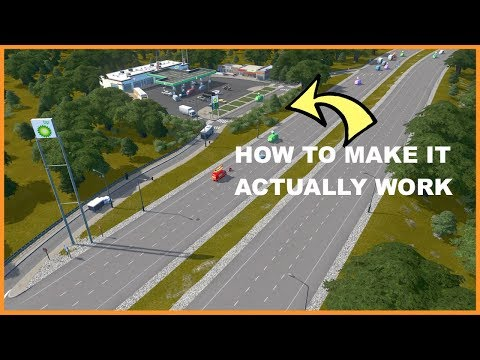 Testing The Real Gas Station Mod in Cities Skylines