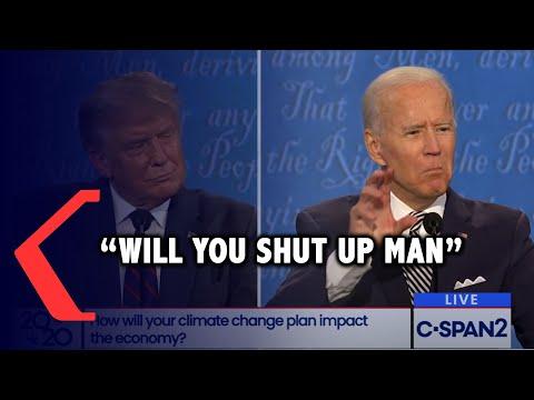 joe biden will you shut up man ucap joe ke trump karena terus diinterupsi saat debat