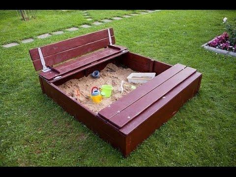 Sandkasten selber bauen. Sandkasten bauen.